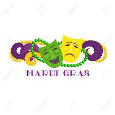 mardi gras banner mardi gras celebration freehand fancy letters masquerade