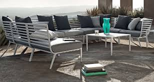 Curved Modular Outdoor Seating by Modular Sofa Contemporary Garden Aluminum Vista By Carsten