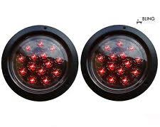 flush mount trailer lights 2 red round 5 flush mount stop turn led light truck trailer clear