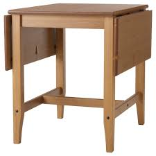 Small Tables Ikea Leksvik Drop Leaf Table 59 119 X 78 X 74h Solid Pine Birch Clear