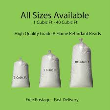 bean bag booster refill polystyrene beads filling top up bag beans