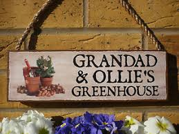 personalised garden sign greenhouse sign own names sign garden