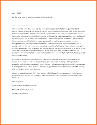 Letter Of Contribution Sample Personal Letters Of Recommendation Bio Example