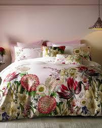 Double Duvet Set Encyclopaedia Floral Cotton Double Duvet Cover Pink Home And