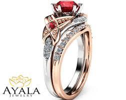 ruby wedding rings ruby engagement ring etsy