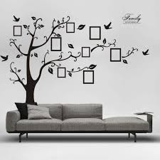 monochrome home decor 3d diy photo tree pvc wall decals adhesive wall stickers mural art