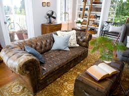 How To Decorate Living Room With Brown Leather Furniture Emily Henderson Hgtv