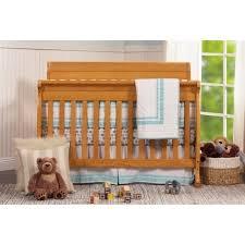 Baby Crib Convertible Davinci Kalani 4 In 1 Convertible Baby Crib In Honey Oak M5501o