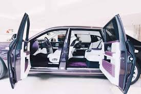 rolls royce door this 2018 rolls royce phantom is purple on purple perfection