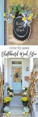 3rd i home decor fall door decor how to make a chalkboard wood slice craft