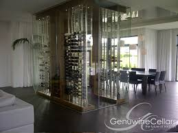 Glass Wall Design by Glass Enclosed Wine Cellars Genuwine Cellars