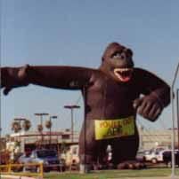 gorilla balloon custom advertising balloons custom helium inflatables