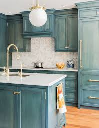 blue kitchen cabinets is the comfortable choice hupehome