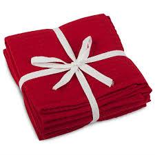 Waffle Weave Kitchen Towels Rans London Red Waffle Weave Tea Towel Set 3pce Peter U0027s Of