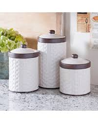 cream kitchen canisters amazing deal on cream woven kitchen canisters set of 3