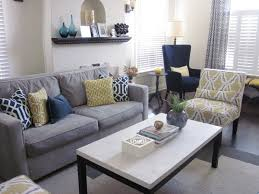 gray and yellow living room fpudining