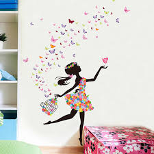 flowers elf dance girl poster girls room wall stickers princess flowers elf dance girl poster girls room wall stickers princess butterfly wall mural living room bedroom wall paper art decor in wall stickers from home