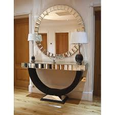 Mirror And Table For Foyer Beautiful Console Table With Mirror Interesting Glass In