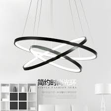 luminaire cuisine led moderne led pendentif lumières cercle suspension luminaire salle à