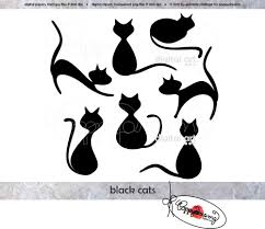 halloween transparent background black cats elements clip art pack 300 dpi digital images