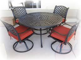Patio Round Tables Inspiration Ideas 52 U2033 Round Table And 4 Swivel Dining Chairs With