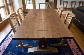 Dining Room Trestle Table Dining Room Dark Wood Parson Dining Chairs With Trestle Dining
