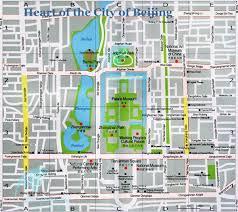Heart Map Beijing Heart Map Urban Beijing Map Beijing Downtown Map