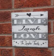 live laugh love signs live laugh love family name wedding christmas gift wooden sign