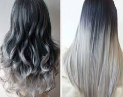 black grey hair grey hair extensions etsy