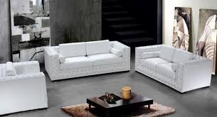 Living Room Furniture Dublin Dublin Luxurious White Leather Sofa Set With Crystals American