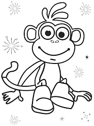 free boots of dora printable coloring pages cartoon coloring