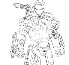 war machine iron man coloring pages cartoon cool pictures of