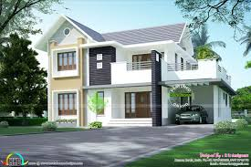 simple sloping roof 2156 sq ft kerala home design bloglovin u0027
