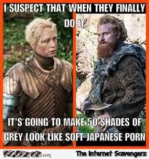 Game Of Thrones Memes Funny - funny brienne and tormund game of thrones meme pmslweb