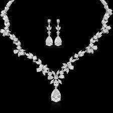 wedding jewellery sets bridal jewellery sets wedding jewellery sets waterdrop swiss cubic