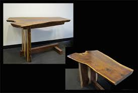 Small Walnut Desk Walnut Live Edge Desk Small The Island Gallery Bainbridge