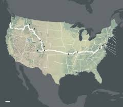 American Route Map by How To Bike Across America