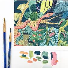 you u0027ll want to get lost in these colorful jungle illustrations