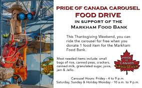 pride of canada carousel thanksgiving food drive events downtown