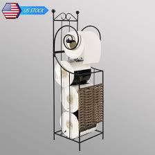 toilet paper shelf metal frame toilet tissue paper roll holder stand shelf rack home