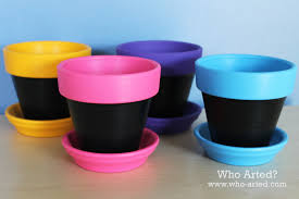 chalkboard flower pots who arted
