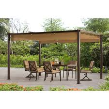 Pergola Gazebo With Adjustable Canopy by Sunjoy 13 X 10 Ft Mason 2 Adjustable Pergola Hayneedle