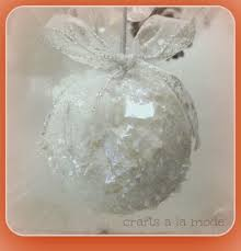 snowballs and snowflake ornaments glittery and crafts a la