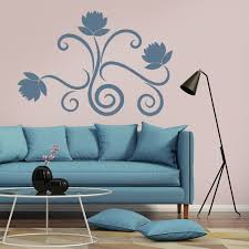 simple flower edge wall sticker floral wall art