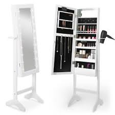 floor length mirror cabinet beautify full length mirror cabinet white led makeup jewellery