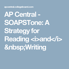 Soapstone Literary Analysis Ap Central Soapstone A Strategy For Reading U003ci U003eand U003c I U003e Writing