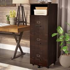 Rustic File Cabinet 17 Stories Kaj Industrial 3 Drawer Vertical Filing Cabinet