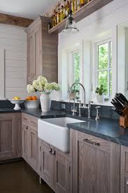 Soapstone Kitchen Sinks Soapstone Kitchen With White Farmhouse Sinks U2013 Homchick Stoneworks