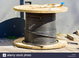 Electric Cable Lund Sweden April 11 2016 Electric Cable Drum Or Spool