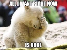 Coke Bear Meme - sad polar bear imgflip